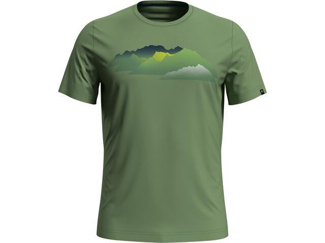 Odlo Nikko Print T-Shirt S/S Crew Neck Men, green eyes/mountain